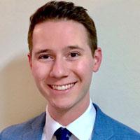 2020 Young Alumni Award winner Christopher Blaker, '14