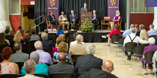 Recognition Ceremony for interim Albion College president Mike Frandsen, August 18, 2013