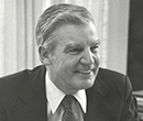 Frank Bonta, '49, in 1982 during his time as Albion College's dean of admissions.