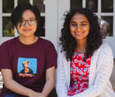 Anh Dinh (left) and Tanya Jagdish, first-year students at Albion College