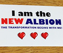 I Am the New Albion sticker