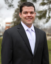 John Thompson, '02, Albion College's associate vice president for marketing