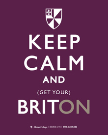 Keep Calm and Get Your Brit ON poster