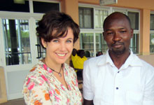 Kirsch meeting with a Ghanaian physician