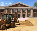Improvements are being made to Kresge Gymnasium's front entrance.