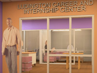 The John S. Ludington Career and Internship Center will be located on the lower level of Albion College's Stockwell Library.