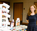 Amanda Miley, '13, presents her portfolio at the 2013 Education Maymester Showcase.