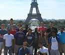The Albion College men's basketball team visited France in May 2017.