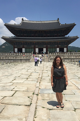 Albion College student McKenzie Bueck, '17, spent two months in South Korea in summer 2015.