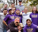 Albion College men's lacrosse players at Victory Park, November 2015.