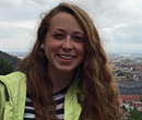 Albion College student Molly Hancock, '18, in Germany