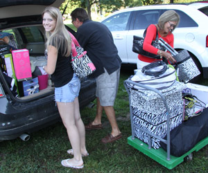 First-year students moved into Wesley Hall on Aug. 19.