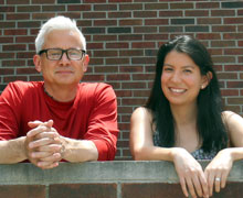 Albion education professor Kyle Shanton and Susanna Murillo