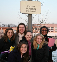 Albion College education practicum students in Noisy-le-Roi, France