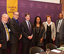 Albion College inauguration panel group photo, September 11, 2014