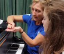 Noisy-le-Roi student preparing for Albion's 2015 piano festival.