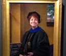 A portrait by Leslie Adams of Albion College Chancellor Donna Randall commemorating her six years as president.