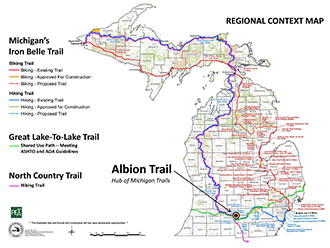Michigan trails graphic courtesy Michigan Department of Natural Resources.