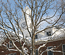 Robinson Hall, Albion College, in winter