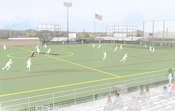 The $500,000 gift for the soccer/lacrosse complex is the largest received to date for Phase II of the athletic facilities campaign.