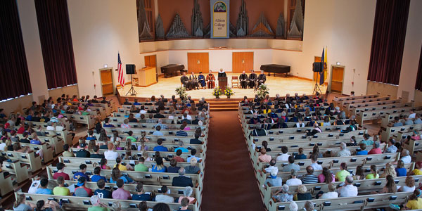 The 2013 Opening Convocation in Goodrich Chapel