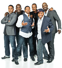 The members of the renowned Take 6 vocal group.