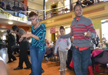 Dancing during Taste of Blackness 2014.