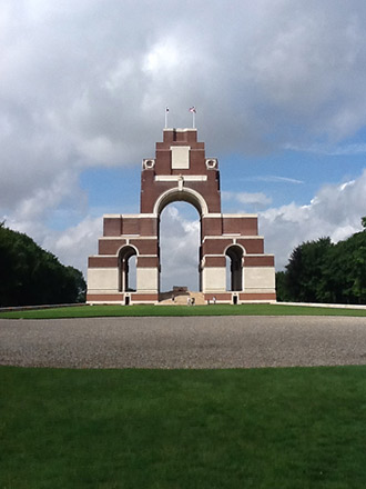 Thiepval Memorial to the Missing of the Somme, near Thiepval, Picardy, France