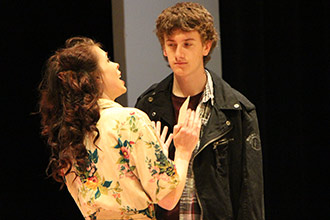 Megan Bortle and Tyler Moylan, mother and son in Albion's world-premiere production of Thread of the Warp by Sean Michael Welch