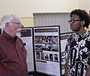 Geology professor Tim Lincoln (left) and Jaren Johnson, '19