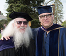 Wes Dick (left) and Geoff Cocks at Albion College's 2016 Commencement