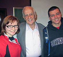 Zimmerman with students Maggie Wallace, '17, and Robert Sommerville, '16