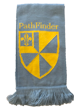The Pathfinder scarf is grey with a large pathfinder logo at the end.