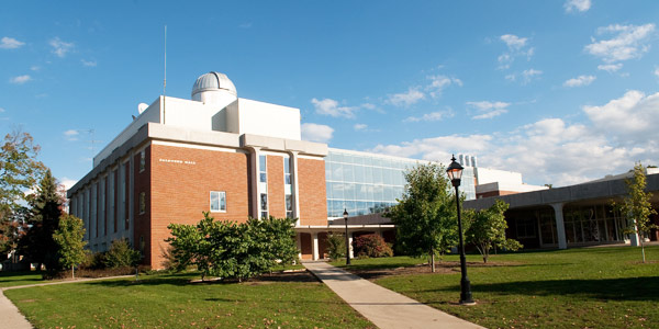 Palenske Hall, part of the Albion College Science Complex and home of the Physics Department.