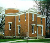 Albion College's Observatory Building, a Michigan historical site, houses an 8-inch Alvan Clark refractor telescope.