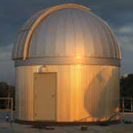 A 16-foot Ash Dome houses the Stellman telescope, a 14-inch Celestron reflector.