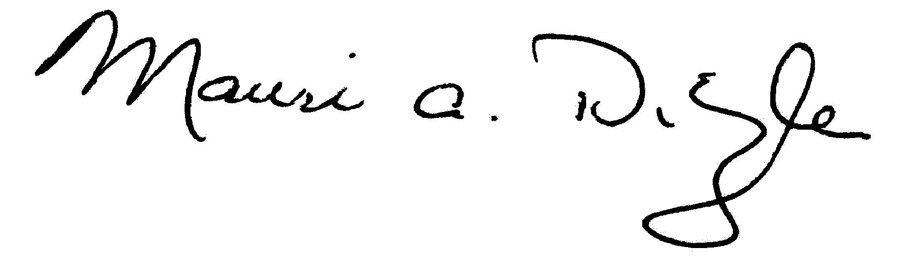 Signature of Mauri A. Ditzler, president, Albion College