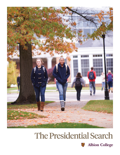 presidential search prospectus cover