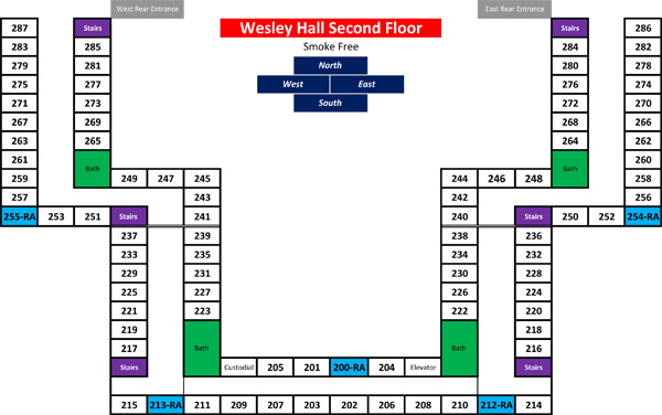 Wesley Hall: Second Floor