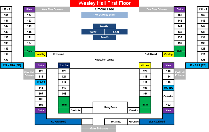 Wesley Hall: First Floor