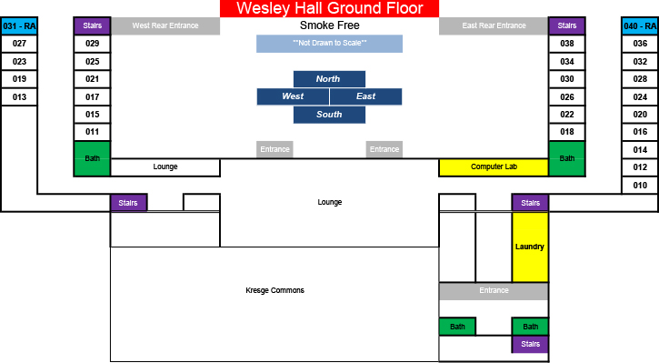 Wesley Hall: Ground Floor