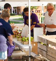 The Albion College Farmers' Market Aug. 29 opened the 2013-14 Year of Sustainability.